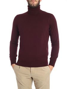 Kangra Cashmere - Burgundy cashmere blend turtleneck sweater