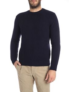 Kangra Cashmere - Blue extrafine wool crew-neck sweater