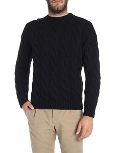 Kangra Cashmere - Black extrafine wool crew-neck sweater