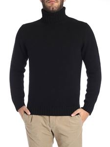 Kangra Cashmere - Black extrafine wool turtleneck sweater