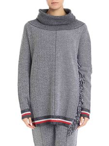 Stella McCartney - Pullover with tweed wide neck