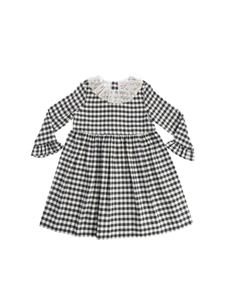 "Bonpoint - Cream and black check pattern ""Flavie2"" dress"