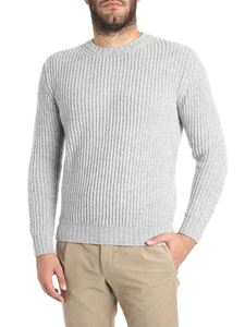 Kangra Cashmere - Melange grey crew-neck sweater