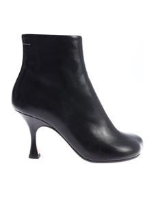 MM6 by Maison Martin Margiela - Stivaletto MM6 nero con tacco flared