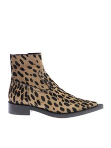 "MM6 by Maison Martin Margiela - Animalier ""Anima"" pointed ankle boots"