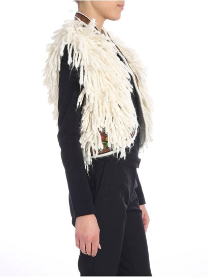 Dsquared2 - White waistcoat with fringes