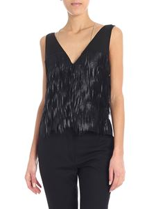 Patrizia Pepe - Black top with fringes