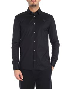 McQ Alexander Mcqueen - Black shirt with swallow detail