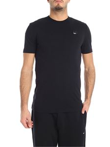 McQ Alexander Mcqueen - Black crew-neck T-shirt with swallow patch