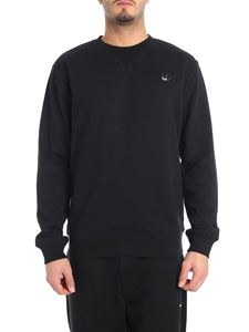 McQ Alexander Mcqueen - Black crew-neck sweatshirt with swallow patch