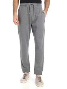 McQ Alexander Mcqueen - Grey cotton trousers with swallow patch