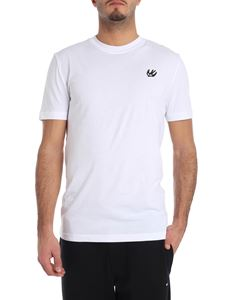 McQ Alexander Mcqueen - White crewneck t-shirt with swallow detail