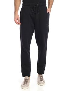 McQ Alexander Mcqueen - Black cotton trousers with swallow patch