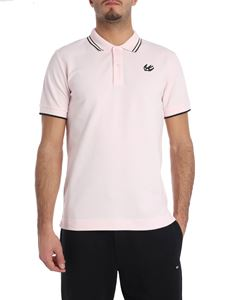 McQ Alexander Mcqueen - Pink polo with black edges