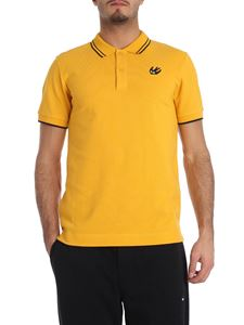 McQ Alexander Mcqueen - Yellow polo with black edges