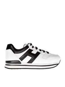 "Hogan - ""H222"" white and black sneakers"