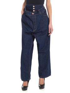 Vivienne Westwood Anglomania - Jeans overfit blu con logo
