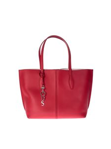 Tod's - Red medium shopping bag