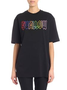 McQ Alexander Mcqueen - Black T-shirt with contrasted print