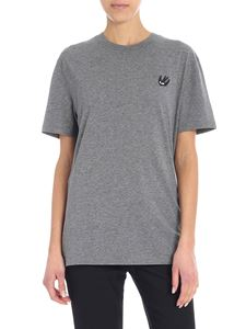 McQ Alexander Mcqueen - Grey T-shirt with contrasted patch
