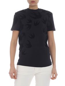 McQ Alexander Mcqueen - Black t-shirt with swallows motif