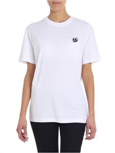 McQ Alexander Mcqueen - White T-shirt with contrasted patch