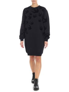 McQ Alexander Mcqueen - Black dress with swallow print
