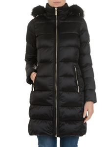 Michael Kors - Black down jacket with faux fur insert