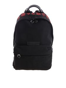 McQ Alexander Mcqueen - Black backpack with red details