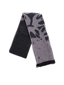 McQ Alexander Mcqueen - Black and lilac jacquard scarf