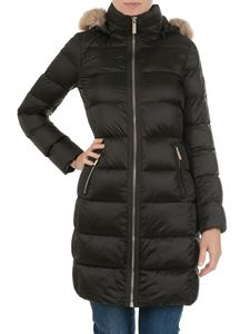Michael Kors - Army green down jacket with faux fur insert