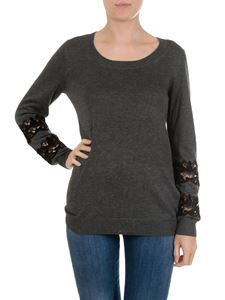 Michael Kors - Grey pullover with lace inserts