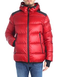 Moncler Grenoble - Dark red quilted down jacket