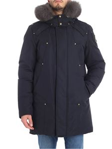 "MOOSE KNUCKLES - Blue ""Mackenzie"" down jacket"