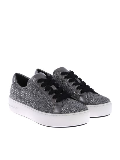 "Michael Kors - Black and silver ""Poppy"" sneakers"