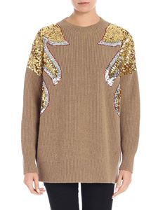 N° 21 - Camel colored pullover with sequins
