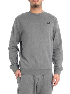McQ Alexander Mcqueen - Grey crew-neck sweatshirt with swallow patch