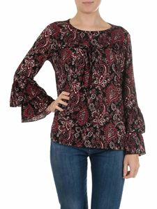 Michael Kors - Blusa nera con stampa floreale
