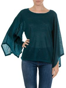 Michael Kors - Luxe teal top with long sleeves