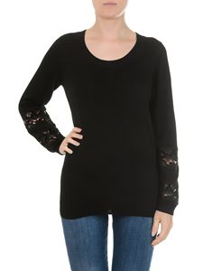 Michael Kors - Black pullover with lace inserts