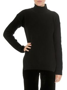 Rick Owens - Black high-neck ribbed pullover