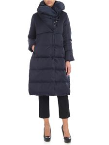 ADD - Blue knee-length down jacket with logo