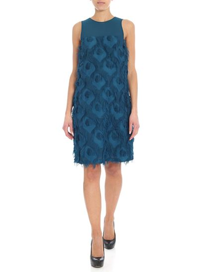 Michael Kors - Teal blue dress with fringes