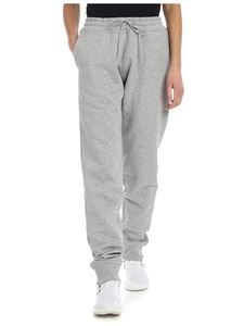 Paco Rabanne - Melange grey trousers with logo
