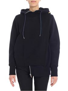 Sacai - Black and blue asymmetrical sweatshirt