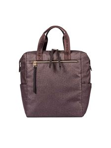 Borbonese - Brown Jet O.P. fabric backpack