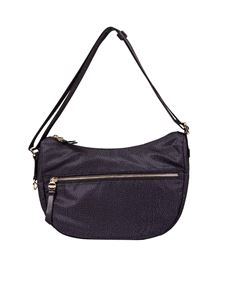 "Borbonese - Black ""Luna Small"" shoulder bag"