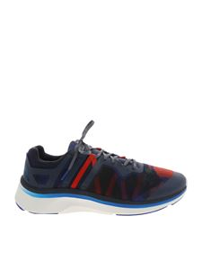 "PS by Paul Smith - Blue and red ""Nestor"" sneakers"
