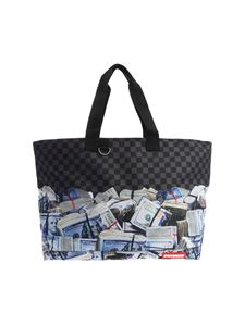 "Sprayground - Black and grey ""Off Shore Account"" shoulder bag"
