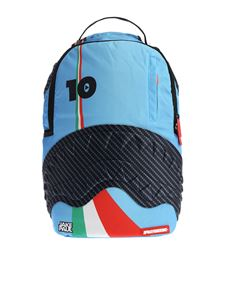 "Sprayground - Light blue ""Lambros Shark"" backpack"